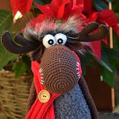 Crochet pattern - Crochet Moose by VendulkaM #supplies @EtsyMktgTool http://etsy.me/2eY3jcA #crochetpattern #vendulkam #crochettoy