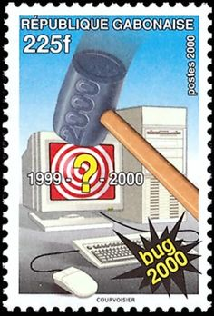 Gabon Millenium Bug stamp