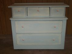 Refinished Antique solid wood Dresser/ or by Just4UbyTink on Etsy, $325.00