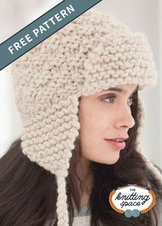 Knit Hat Pattern Easy, Beanie Knitting Patterns Free, Easy Knit Hat, Easy Knitting, Knitting Ideas, Knit Hats, Knit Patterns, Knitting Projects, Sewing Projects