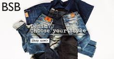 BSB// Denim? Choose your style here >> http://bit.ly/1MAzFjM