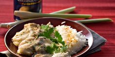 Curry de lotte au lait de coco