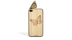 Wooden Butterfly iPhone Veneer | AHAlife