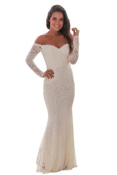 White Crochet Off Shoulder Maxi Evening Party Dress only US 39  63f47fcd7d61