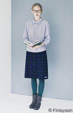 フィンレイソン インナーパンツ付きニットスカート TIIMA ティーマ Modern Fashion, Retro Fashion, High Fashion, Womens Fashion, Fashion Design, Blue Tights, Librarian Style, Girl Outfits, Fashion Outfits