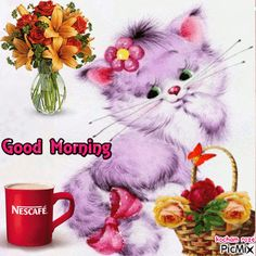 Good Morning Wishes Friends, Good Morning Love Gif, Good Morning Flowers Gif, Happy Morning Quotes, Cute Good Morning Quotes, Good Morning Cards, Morning Greetings Quotes, Morning Blessings, Beautiful Morning