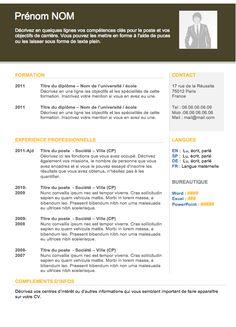 22 best cv images on pinterest resume templates anonymous and modle de cv avec photo yelopaper Images
