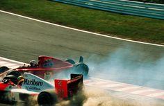 Ayrton e Alan - GP de  Suzuka, Japão - 1990