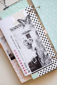 Un nouveau kit mini en boutique + des promos pour les groupes et assos Mini Albums Scrap, Mini Scrapbook Albums, Scrapbook Journal, Album Photo Scrapbooking, Teresa Collins, Kit, Memory Books, Tampons, Boutique