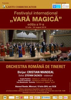Orchestra Romana de Tineret -13 Iul 2016 24. August, Orchestra