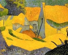Paul Sérusier Nabis): Yellow Farm at Pouldu, 1890 Paul Gauguin, Pierre Bonnard, Art Jaune, Yellow Art, Klimt, French Art, Henri Matisse, Oeuvre D'art, Art Reproductions