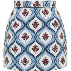 Anika Skirt by Motel (553.210 IDR) ❤ liked on Polyvore featuring skirts, mini skirts, blue, a-line skirt, short a line skirt, blue a line skirt, high waisted short skirts and cotton a line skirt