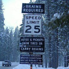 Some natural selection humor. Funny Street Signs, Funny Road Signs, Fun Signs, Funny Quotes, Funny Memes, Jokes, It's Funny, Tgif Funny, Hilarious Sayings