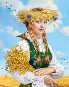 Discover & Share this Animated GIF with everyone you know. GIPHY is how you search, share, discover, and create GIFs. Russian Folk Art, Ukrainian Art, Fall Is Here, Summer Beauty, Pin Up Art, Female Art, Digital Illustration, Illustrators, Fantasy Art