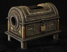 Al Farrow's Casket Reliquary III (Foot of Santo Guerro) made from shell casings