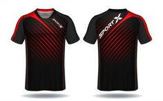 Soccer jersey template-sport t-shirt design Vector Sport Shirt Design, T Shirt Design Vector, Sports Jersey Design, Sport T Shirt, Shirt Designs, Cricket Dress, Sports Uniforms, Sublime Shirt, Team Shirts