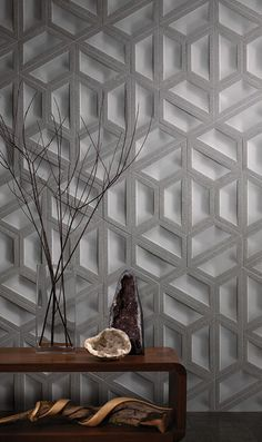 PIN 4 - This is a beautiful unpolished concrete tile. I love that it is dimensional as it gives the wall depth and creates shadow from the lighting source. Love this as a feature wall in a house entrance or even in a wet area. Plafond Design, Geometric Tiles, Concrete Tiles, Wall Finishes, Wall Cladding, Interior Walls, Interior Cladding, Wall Patterns, Wall Treatments