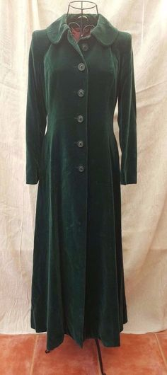 1980 Vintage Feminella Coat Emerald Green Velvet Winter Swing Manteau UK 10/12 | Clothes, Shoes & Accessories, Vintage Clothing & Accessories, Women's Vintage Clothing | eBay!
