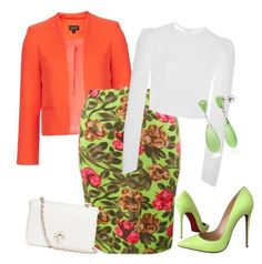 """outfit3457"" by natalyag ❤ liked on Polyvore featuring Christian Louboutin, Topshop, Dolce&Gabbana, Brock Collection, Tory Burch, Belk & Co., women's clothing, women, female and woman"