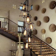 XXL Skyline Luxus Hängelampe   Hängeleuchte New York   Deckenlampe   Lampe  50cm   Lounge   Wohnzimmer   Esszimmer   Schlafzimmer   Chrom   Dimmbar U2026