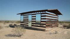 Lucid Stead: A Trans­parent Cabin Built of Wood and Mir­rors by Phillip K Smith III