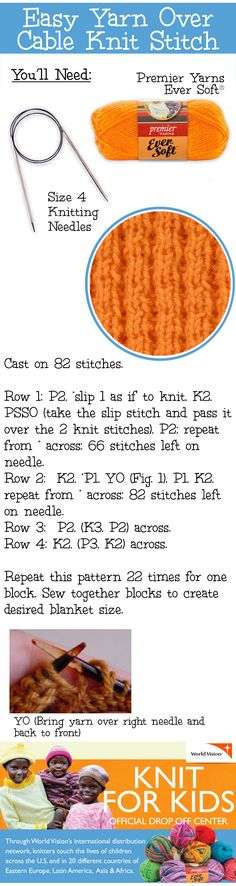 Let us show you how to use a single stitch to create an entire project! Soon you'll be donating what you made to at your local Let us show you how to use a single stitch to create an entire project! Soon you'll be donating what you made to at your local # Knitting Stiches, Easy Knitting Patterns, Crochet Stitches Patterns, Arm Knitting, Knitting Needles, Stitch Patterns, Knit Stitches, Knitting For Charity, Knitting For Kids
