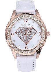 Wensltd(tm) Clearance Sale! Vogue Women Diamond Leather Band Wrist Watch by WensLTD $5.40+ $0.50 shipping