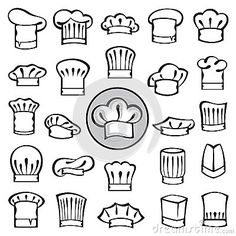 Chef Hats Set Royalty Free Stock Photos - Image: 34976728