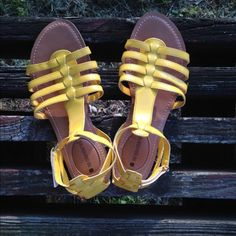 No Boundaries Ophelia Size 7 No Boundaries Yellow Ophelia Gladiator Sandals. Size 7. So cute for Spring & Summer!  No Boundaries Shoes Sandals