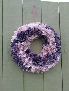 Check out this item in my Etsy shop https://www.etsy.com/uk/listing/469678574/rag-wreath-15-pin-wheel-purple-and-cream