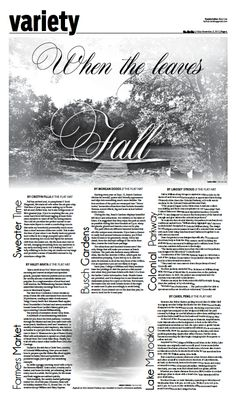 The Flat Hat, Variety page 6, November 8 #Williamsburg