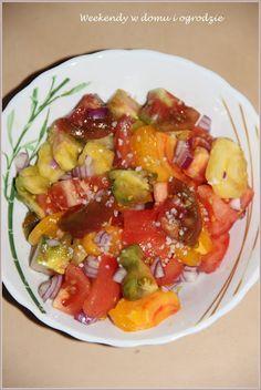 Sezon na pomidory powoli się kończy :( Na krzakach wciąż sporo zielonych…