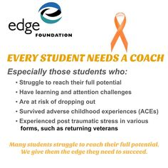 Edge Coaching Gets Results Ten years of university based, randomized, double blind, control group research and pilot testing have proven that Edge Coaching works. Edge Coaching is four times (4X) more effective than any other educational intervention on the issues that these students deal with: self-regulation, perseverance, willpower and grit.