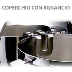 Batteria di Pentole acciao inox 18/10 fondo triplo Energia Induzione Mepra1 2 pezzi Prodotte in Italia