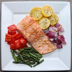 One-Pan Salmon And Rainbow Veggies
