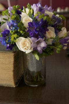 Bridal Bouquet. Purple and blue wedding.
