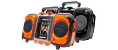 Waterproof boom box that can float with up to 2lb of cargo on top.  Watertight casing fits most sized MP3 player/phones.  RRP:£150