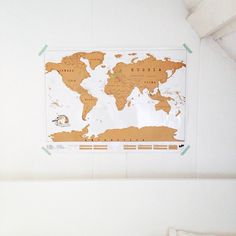 Scratchmap in the bedroom