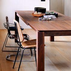 Walnut Slice Expandable Table
