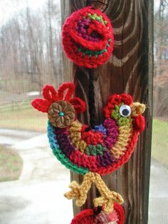 Adorable Rooster! find details at-Fiddlesticks - My crochet and knitting ramblings.: bag. crochet