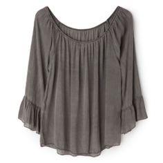 Blusón gris desgastado