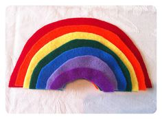 DIY Felt Rainbow Size Sorting Game