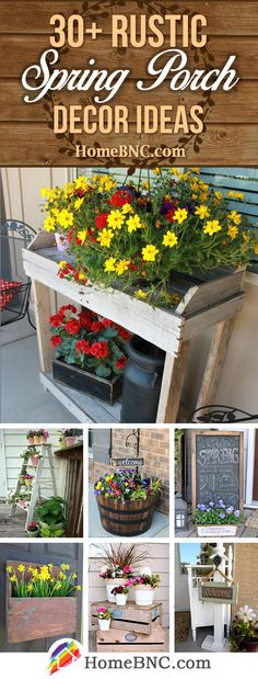 Rustic Spring Porch Decor Ideas to Help you Get Your Outdoor Space Ready for Spring is part of Rustic decor Outdoor - Rustic spring porch decor ideas to welcome the vibrant bloom of the new season Discover the best designs and get inspired! Porch Kits, Porch Ideas, Backyard Ideas, Patio Ideas, Garden Ideas, Roof Ideas, Pergola Ideas, Decorative Garden Fencing, Veranda Design