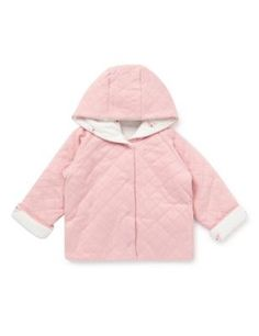Pure Cotton Floral Quilted Reverse Jacket