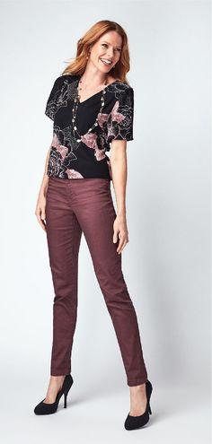 Classic denim styling, our mauve Every Body Slim Jean is a great neutral pant that will take you from day to night with ease! Pair with bold colours and patterns for a great seasonal look! Bold Colors, Colours, Slim Body, Slim Jeans, Wardrobe Ideas, Mauve, Neutral, Capri Pants, Pairs