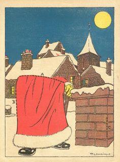 The Half Santa. Paper Toys, Paper Crafts, Christmas Activities For Kids, Paper Magic, Santas Workshop, Christmas Deer, Paper Houses, Paper Models, Vintage Holiday