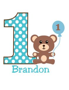 Teddy Bear Birthday T Shirt or Bodysuit ANY por OneWhimsyChick