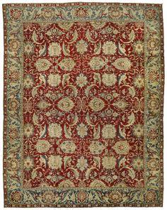 MOSHE TABIBNIA . Collezione . Tappeti, arazzi e tessuti d'alta epoca   Agra , India XIX sec. , metà Tappeto annodato in lana 527 x 414 cm Inv. n.: 164977