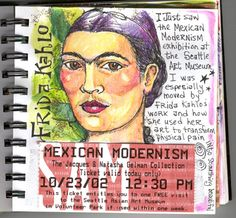 Love this Frida Kahlo journal page.