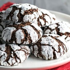 Classic Chocolate Crinkle Cookies -  homemadehooplah